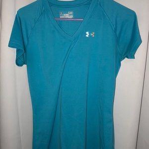 Small aqua under armour shirt